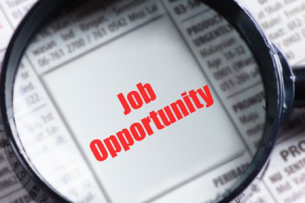 Picture of a newspaper that says job opportunity