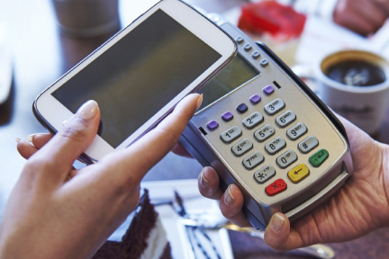 Picture of a cell phone NFC payment