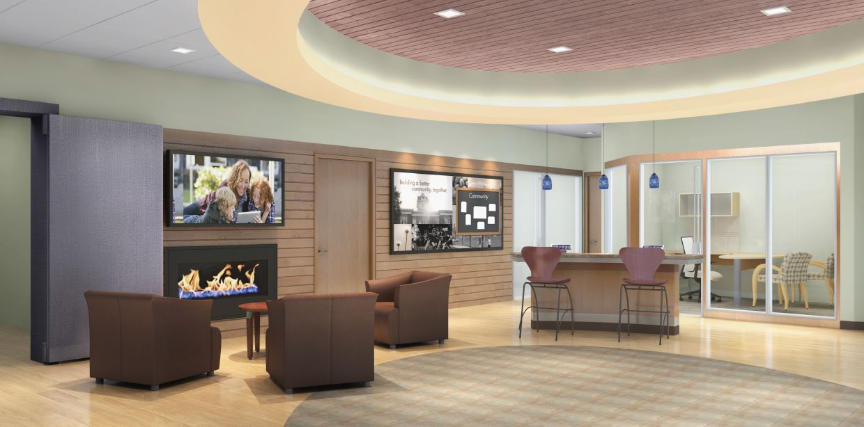 picture of a credit union branch lobby
