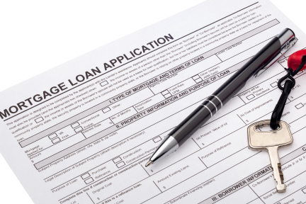 picture of a loan application