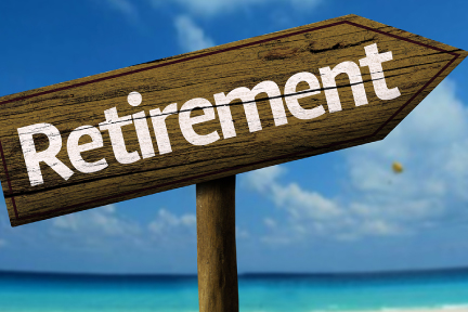 picture of a sign pointing in the direction of retirement
