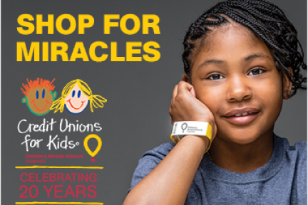 Credit unions for kids shop for miracles banner