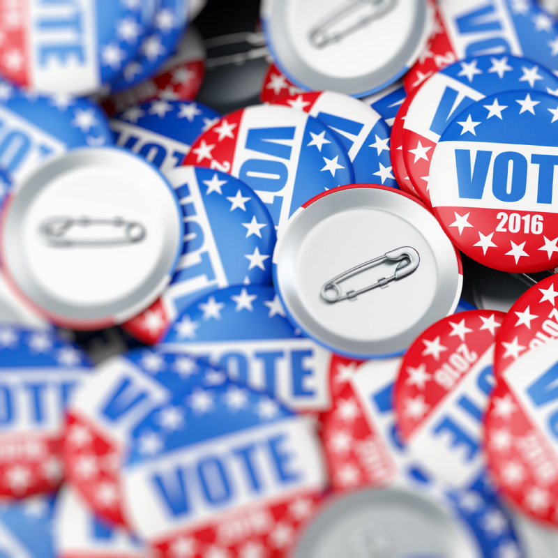 Picture of vote buttons