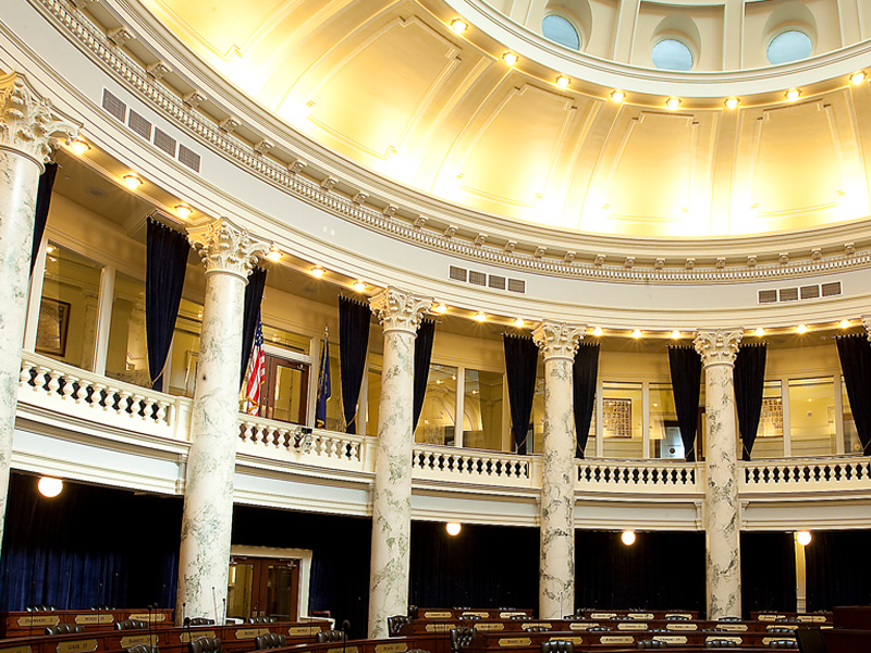picture of interior of idaho state capitol building