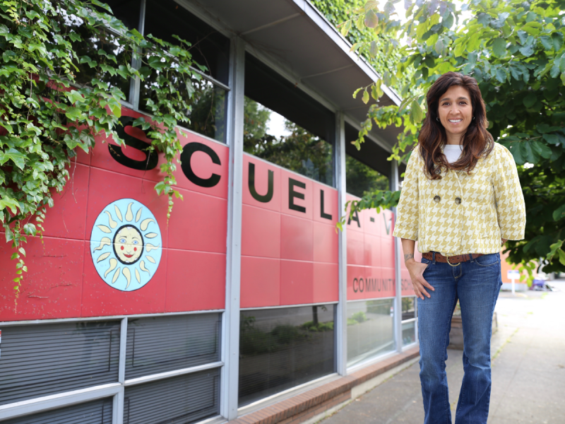 Picture of Angie at the school campus