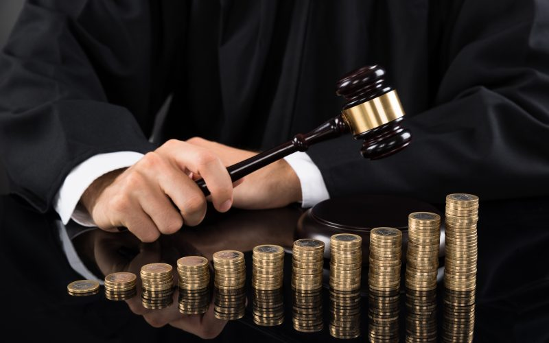 Picture of Judge Gavel Stack of Coins