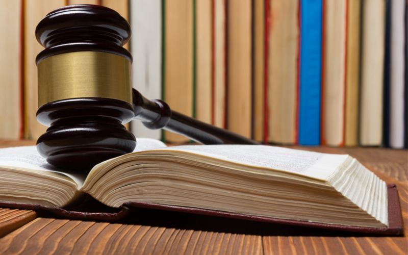 Picture of Law book with a wooden judges gavel