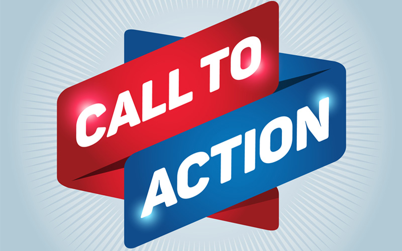 Picture of call to action sign