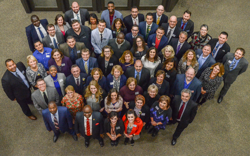 47 credit union professionals in a group photo