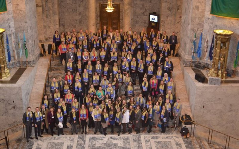 2017 Washington CU Day at the Capitol group