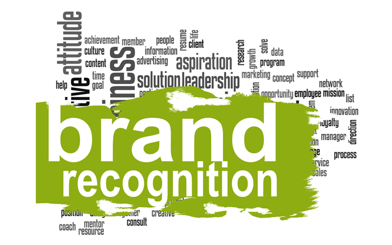 Picture of words with brand recognition
