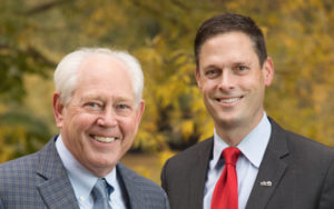 Photo of STCU President/CEO Tom Johnson with Ezra Eckhardt, president-elect