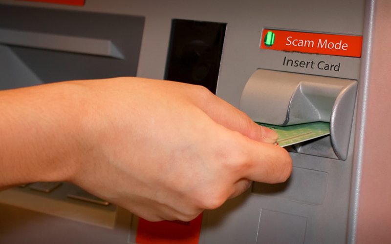 Picture of ATM with scam mode