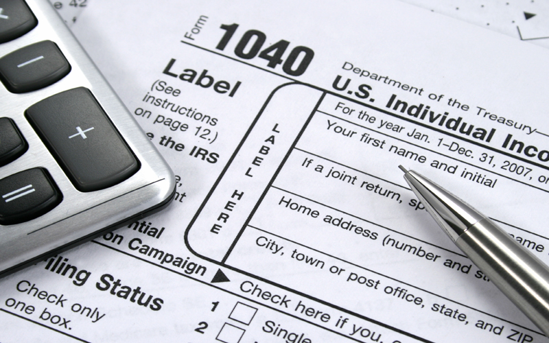 Picture of tax form