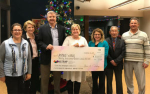 Picture of United Way Donation Big Check