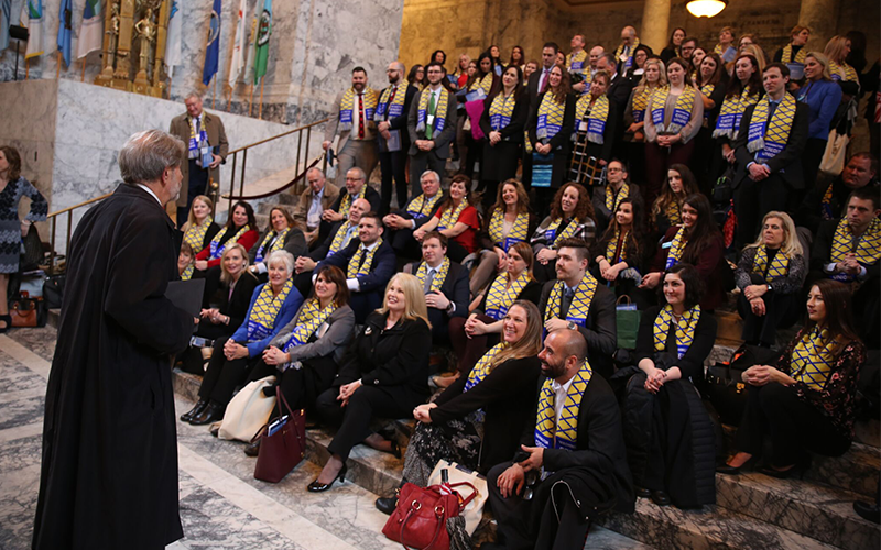 Credit union advocates at Washington Credit Union Day at the Capitol