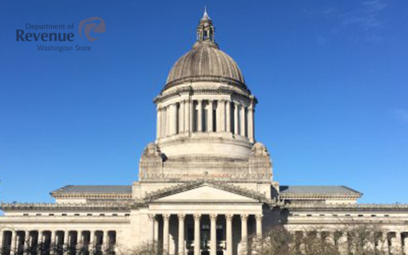Picture of Washington State Capitol Dept. of Revenue logo