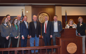 Picture of Sen. Mike Crapo, Troy Stang, NWCUA andI daho Advocates