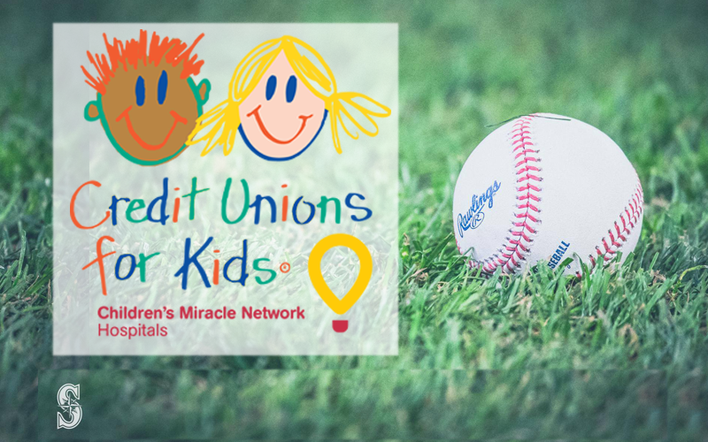Picture of baseball with CU4Kids logo