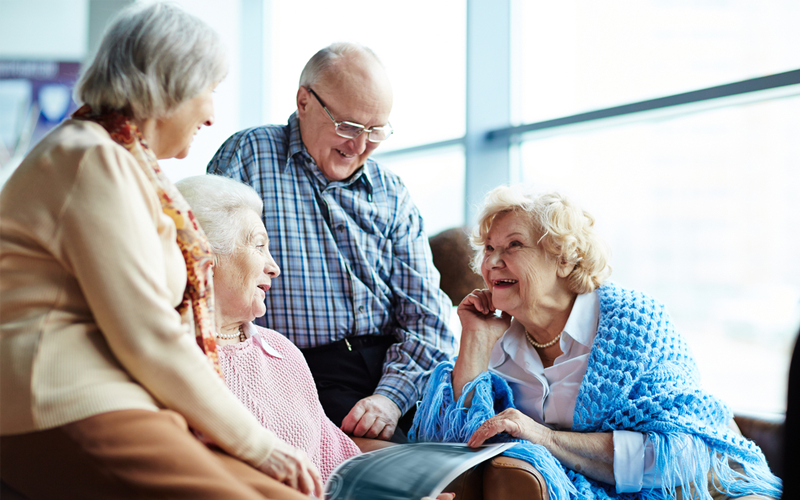 Picture of senior friends chatting