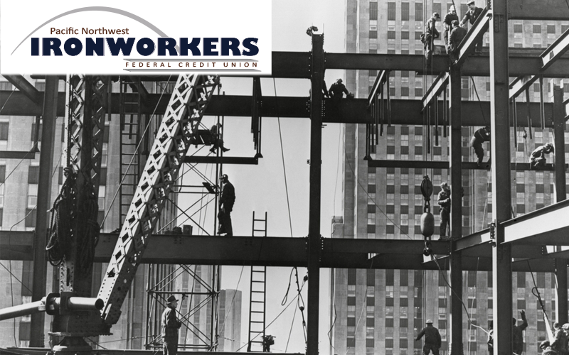 Picture of Iron Workers with Pacific Northwest Ironworkers FCU logo