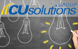Picture of light bulbs with CU Solutions Group Logo