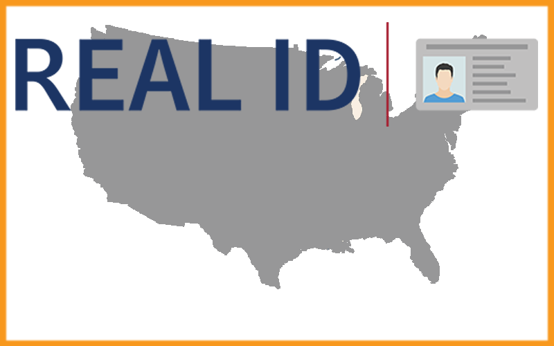 Picture of REAL ID logo with US map
