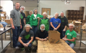 Food bank volunteers from Idaho Central Credit Union