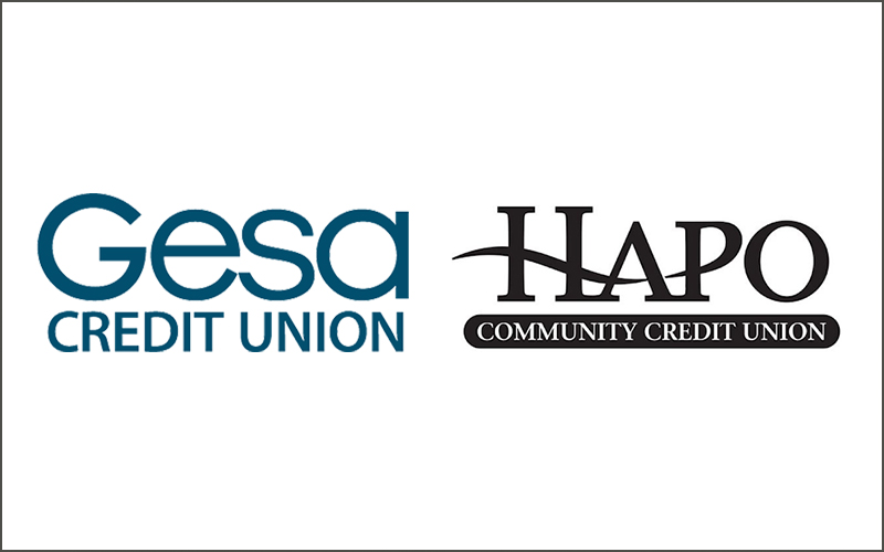 Gesa Credit Union and HAPO Community Credit Union Logos