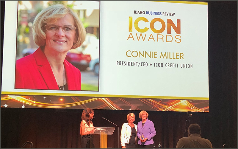 Connie Miller getting ICON award