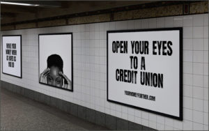 Open Your Eyes initiative billboards