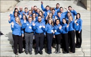 Credit Union advocates at Idaho State Capitol building