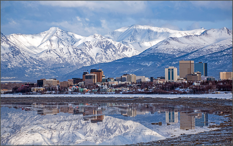 cityscape of Anchorage, Alaska