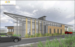 Artist rendering of new STCU branch.