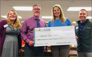 "InRoads Credit Union donated funds to three local Oregon high schools for its ""Team Up For Schools"" program."
