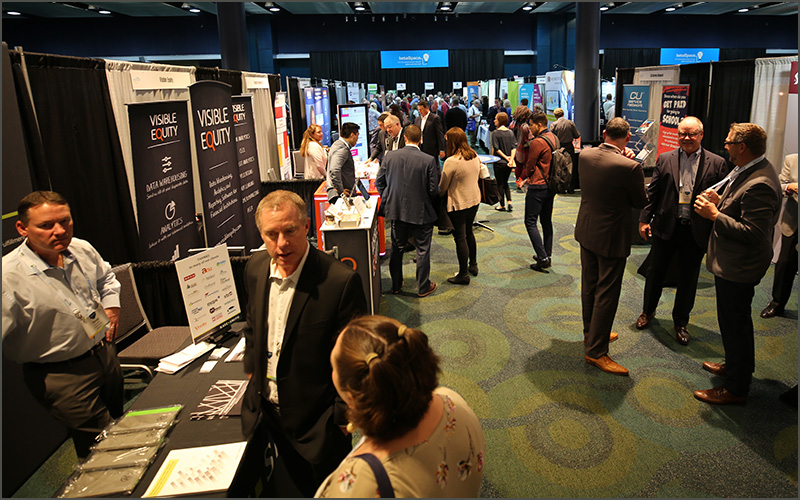 Attendees and Vendors networking at the Strategic Link Trade Show